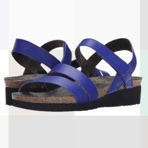 Naot Shoes - NAOT Kayla Blue Cork Sandal